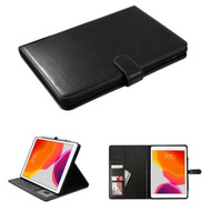 Book-Style Leather Folio Case with Kickstand Feature for iPad 10.2 inch (7th Generation) - Black