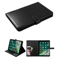 Book-Style Leather Folio Case with Kickstand Feature for iPad Air 3 / iPad Pro 10.5 inch - Black
