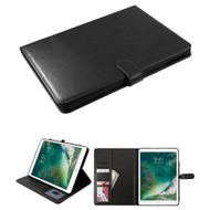 Book-Style Leather Folio Case with Kickstand Feature for iPad (2018/2017) / iPad Pro 9.7 / iPad Air 2 / iPad Air - Black