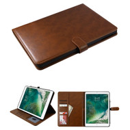 Book-Style Leather Folio Case with Kickstand Feature for iPad (2018/2017) / iPad Pro 9.7 / iPad Air 2 / iPad Air - Brown