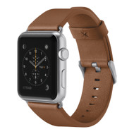 Belkin Classic Genuine Italian Leather Strap Band for Apple Watch 40mm / 38mm - Brown