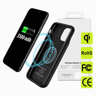 Smart Qi Certified Wireless Power Bank Battery Charger Case 3500mAh for iPhone 11 Pro - Black