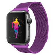 Magnetic Stainless Steel Mesh Strap Watch Band for Apple Watch 44mm / 42mm - Purple