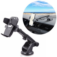 Car Windshield & Dashboard Phone Mount with Retractable Arm - Black