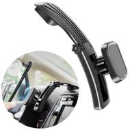 Adjustable Magnetic Car Dashboard Phone Mount Holder - Black