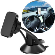Car Windshield and Dashboard Phone Mount Holder - Black