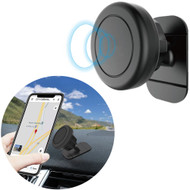 Universal 360° Rotating Magnetic Car Dashboard Phone Mount - Black
