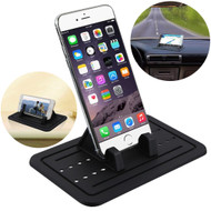 Non-Slip Adjustable Silicone Dashboard and Desktop Stand - Black