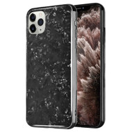 Pearl Seashell Scratch Resistant Tempered Glass Fusion Case for iPhone 11 Pro Max - Black