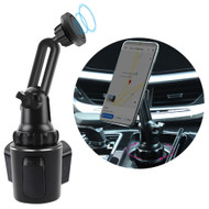 Magnetic Car Cup Holder Phone Mount - Black