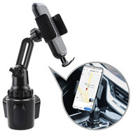 Adjustable Car Cup Holder Phone Mount - Black
