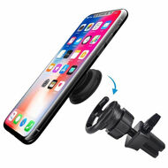Swivel Car Air Vent Mount for Collapsible Socket Grip Phone Holder - Black