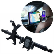 Car Seat Headrest Dual Mount for Smartphone and Tablet - Black