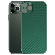 3M Vinyl Adhesive Protective Skin for iPhone 11 Pro - Carbon Fiber Midnight Green
