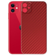 3M Vinyl Adhesive Protective Skin for iPhone 11 - Carbon Fiber Red