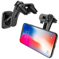 Dual Fork Magnetic Air Vent Mount Phone Holder - Black
