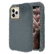 Fluffy Plush Faux Fur Case for iPhone 11 Pro Max - Grey