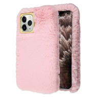 Fluffy Plush Faux Fur Case for iPhone 11 Pro Max - Pink