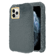 Fluffy Plush Faux Fur Case for iPhone 11 Pro - Grey