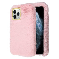 Fluffy Plush Faux Fur Case for iPhone 11 Pro - Pink