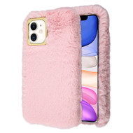 Fluffy Plush Faux Fur Case for iPhone 11 - Pink