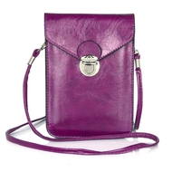 Festival Leather Phone Crossbody Bag - Purple