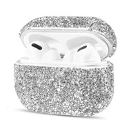 Mosaic Diamond Protective Case for Apple AirPods Pro - Silver