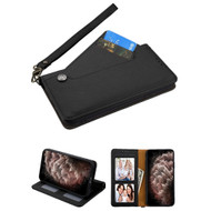 Noble Premium Leather Wallet Case with Slide Out Card Holder for iPhone 11 Pro Max - Black