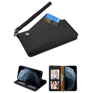 Noble Premium Leather Wallet Case with Slide Out Card Holder for iPhone 11 Pro - Black