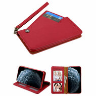 Noble Premium Leather Wallet Case with Slide Out Card Holder for iPhone 11 Pro - Red
