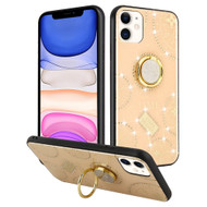 Time Diamond Jewel Hybrid Case with 360° Rotating Ring Holder for iPhone 11