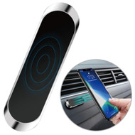 Universal Magnetic Strip Dashboard Phone Mount - Silver