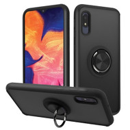 Frost Semi Transparent Hybrid Case with 360° Rotating Ring Holder for Samsung Galaxy A10e - Black