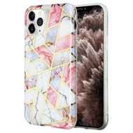 Marble Collection Electroplated TPU Case for iPhone 11 Pro Max - Pink
