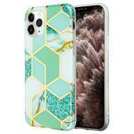*Sale* Marble Collection Electroplated TPU Case for iPhone 11 Pro Max - Green