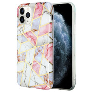 Marble Collection Electroplated TPU Case for iPhone 11 Pro - Pink