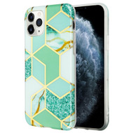 Marble Collection Electroplated TPU Case for iPhone 11 Pro - Green