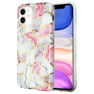 Marble Collection Electroplated TPU Case for iPhone 11 - Pink