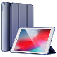 Leather Folio Smart Hybrid Case for iPad 9.7 (5th & 6th Generation) - Navy Blue