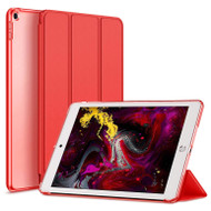 Leather Folio Smart Hybrid Case for iPad 9.7 (5th & 6th Generation) - Red