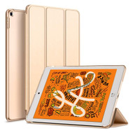 Leather Folio Smart Hybrid Case for iPad Mini 5 (5th Generation) - Gold
