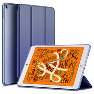 Leather Folio Smart Hybrid Case for iPad Mini 5 (5th Generation) - Navy Blue