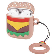 Novelty Silicone Protective Case for Apple AirPods - Burger