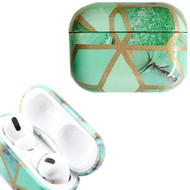 Marble Collection Electroplated TPU Protective Case for Apple AirPods Pro - Green