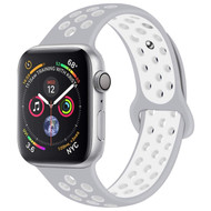 Soft Breathable Sport Band Strap for Apple Watch 40mm / 38mm - Grey White