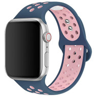 Soft Breathable Sport Band Strap for Apple Watch 44mm / 42mm - Blue Pink