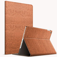 Boarded Leather Smart Folio Hybrid Case for iPad 9.7 (5th & 6th Generation) / iPad Air 2 / iPad Air - Brown