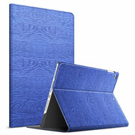 Boarded Leather Smart Folio Hybrid Case for iPad 9.7 (5th & 6th Generation) / iPad Air 2 / iPad Air - Navy Blue