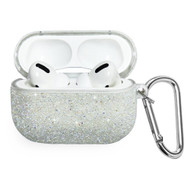 Glitter Protective Case for Apple AirPods Pro - Silver