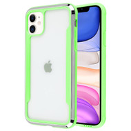 Supernova Transparent Fusion Case for iPhone 11 - Green